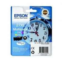 Cartucho de Tinta Original Epson nº27 XL Alta Capacidad Multipack/ Cian/ Amarillo/ Magenta