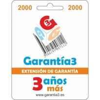 Extension de Garantia 3 Anos Mas hasta 2000¤ PVP para Productos Electronicos