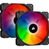 VENTILADOR CAJA ADICIONAL 14X14 CORSAIR SP140 RGB PRO PACK 2 CONTROLLER