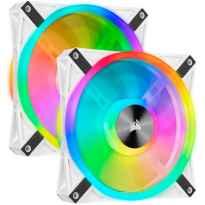 VENTILADOR CAJA ADICIONAL 14X14 CORSAIR QL140 RGB BLANCO PACK 2 UDS LIGTHING NODE