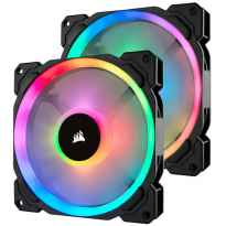 VENTILADOR CAJA ADICIONAL 14X14 CORSAIR LL140 RGB PACK 2 UDS LIGTHING NODE