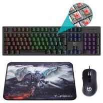 Pack Gaming Hiditec PAC010026/ Teclado + Raton + Alfombrilla