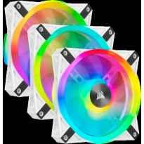 VENTILADOR CAJA ADICIONAL 12X12 CORSAIR QL120 RGB BLANCO PACK 3 UDS LIGTHING NODE
