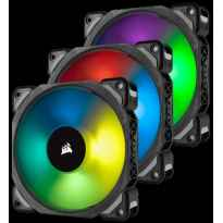 VENTILADOR CAJA ADICIONAL 12X12 CORSAIR ML120 PRO RGB LEV.MAGNETICA NEGRO PACK 3