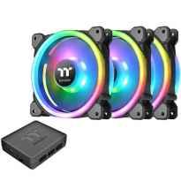 Kit de ventiladores 120x120 thermaltake riing trio 12 rgb tt pack 3 unidades - 1500 rpm