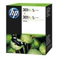 HP TINTA TRICOLOR DESKJET 1050, 2050, 3050 - Nº301XL (PACK2)
