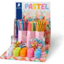 STAEDTLER EXPOSITOR SOBREMESA PASTEL LINE, LAPICES, GOMAS, AFILALAPICES SURTIDOS