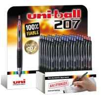 UNIBALL EXPOSITOR ROLLERBALL SIGNO 207/3D RETRACTIL ROJO-AZUL-NEGRO -36U-