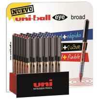 UNIBALL EXPOSITOR ROLLERBALL EYE BROAD UB-150-10/3D 36 UNIDADES ROJO-NEGRO-AZUL -36U-