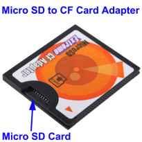 ADAPTADOR MICROSD A COMPAC FLASH TIPO I SATYCON