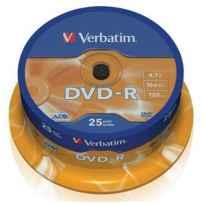 DVD-R 16X VERBATIM TARRINA 25UDS.