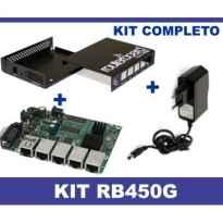 ROUTER BOARD MIKROTIK RB450G + CARCASA + FUENTE
