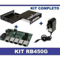 ROUTER BOARD MIKROTIK RB450G + CARCASA + FUENTE