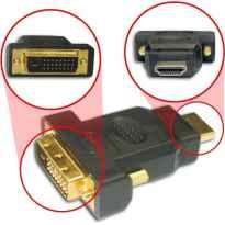 ADAPTADOR DVI-D MACHO DUAL LINK A HDMI MACHO