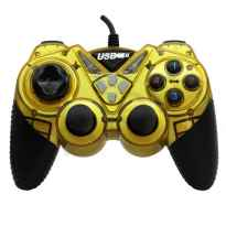 MANDO PC Y PS3 USB DOUBLE SHOCK AMARILLO