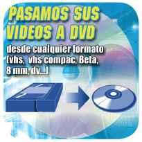PASAMOS CINTAS DE VIDEO A DVD O PENDRIVE
